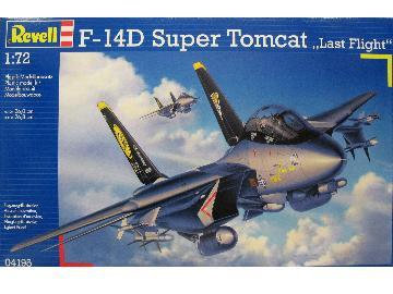 "REVELL 04195 ECHELLE 1/72 F 14D Super Tomcat ""Last Flight"" MAQUETTE AVION,"
