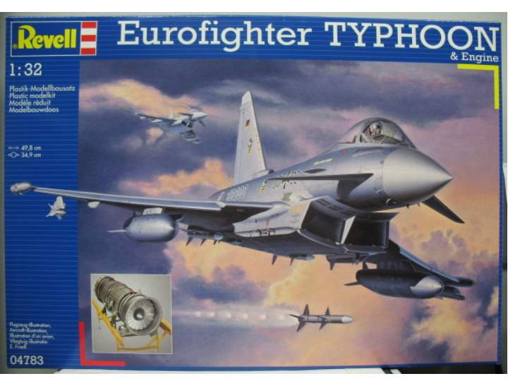 Revell Eurofighter Typhoon & full engine Scale 1/32 4783