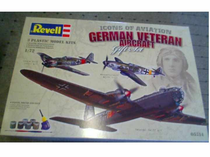Revell Historic German Aircraft of WWII Gift Set Scale 1/72 5714