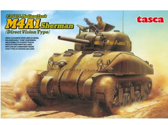 Tasca US Medium Tank M4A1 Sherman - Direct Vision Type Scale 1/35 35-025