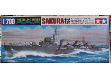 Tamiya - Destroyer Sakura Scale 1/700 #31429