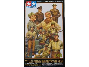 Tamiya WWII US Infantry at rest with Jeep Scale 1/48 32552