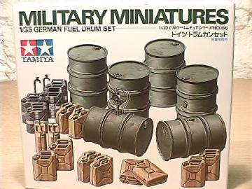 Tamiya - German Fuel Drums Scale 1/35 #35186