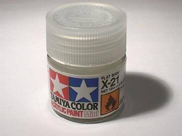 Tamiya Acrylic Mini X21 Flat Base Scale 10ml 81521