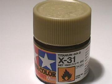 Tamiya Acrylic Mini X31 Titan. Gold Scale 10ml 81531