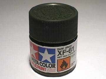 Tamiya Acrylic Mini XF61 Dark Green Scale 10ml 81761