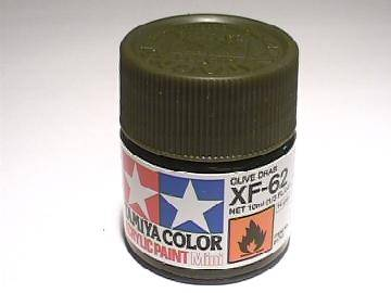 Tamiya Acrylic Mini XF62 Olive Drab Scale 10ml 81762