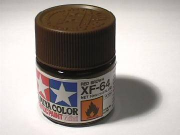 Tamiya Acrylic Mini XF64 Red Brown Scale 10ml 81764