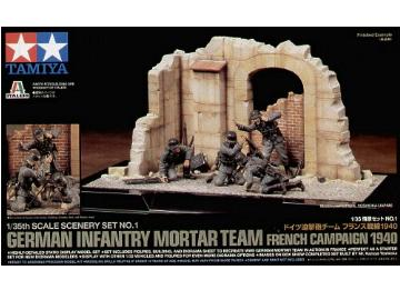 Tamiya Scene Set No1 German Infantry Mortar Team - French Campaign 1940 1/35 89739