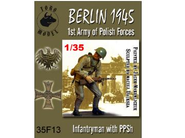 Toro Infantryman with PPSh - Berlin 1945 Scale 1/35 35F13