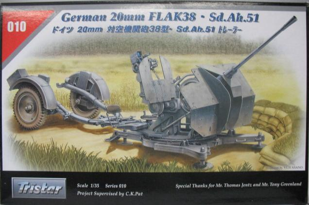 Tristar German 20mm Flak38 Sd.Ah.51 Scale 1/35 35010
