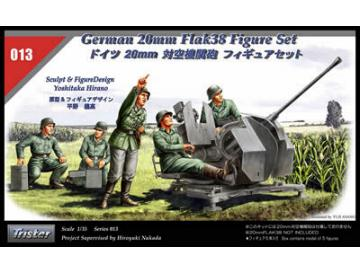 Tristar German 20mm Flak 38 Figure set Scale 1/35 35013