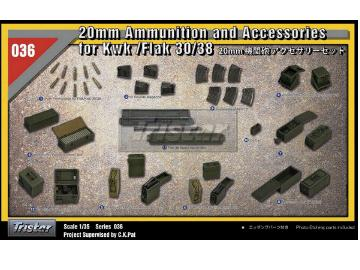 Tristar 2cm Flak38 Accessories and Ammo Box Set Scale 1/35 35036