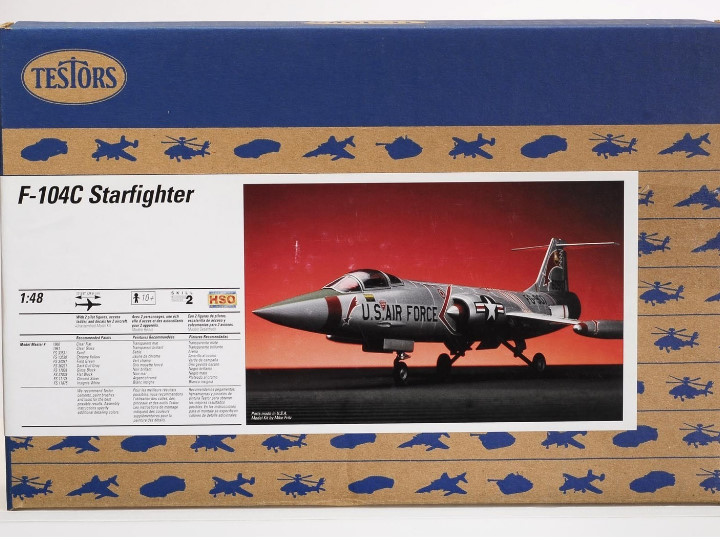 Testors F-104C Starfighter Scale 1/48 7523
