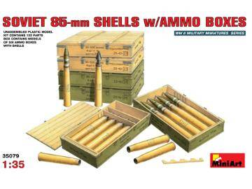 Miniart Soviet 85mm Shells with Ammo Boxes Scale 1/35 35079