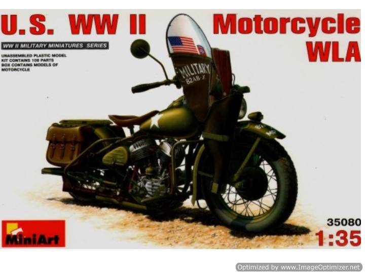 Miniart US WWII Motorcycle Scale 1/35 35080