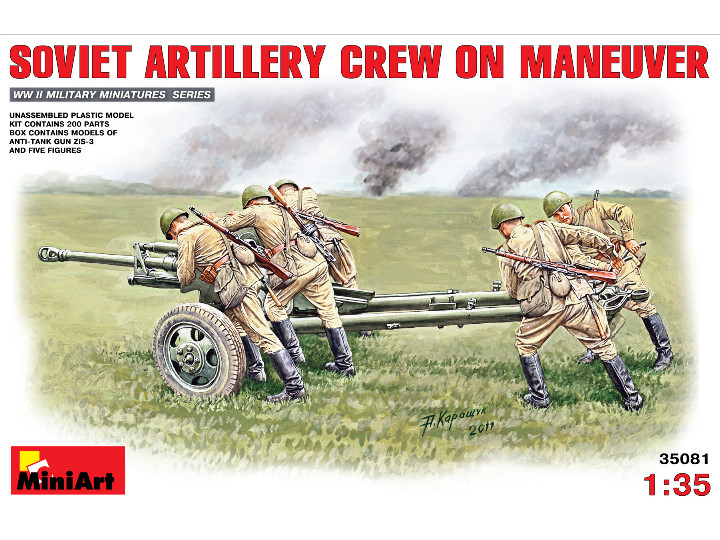 Miniart Soviet Artillery Crew on Maneuvere Scale 1/35 35081