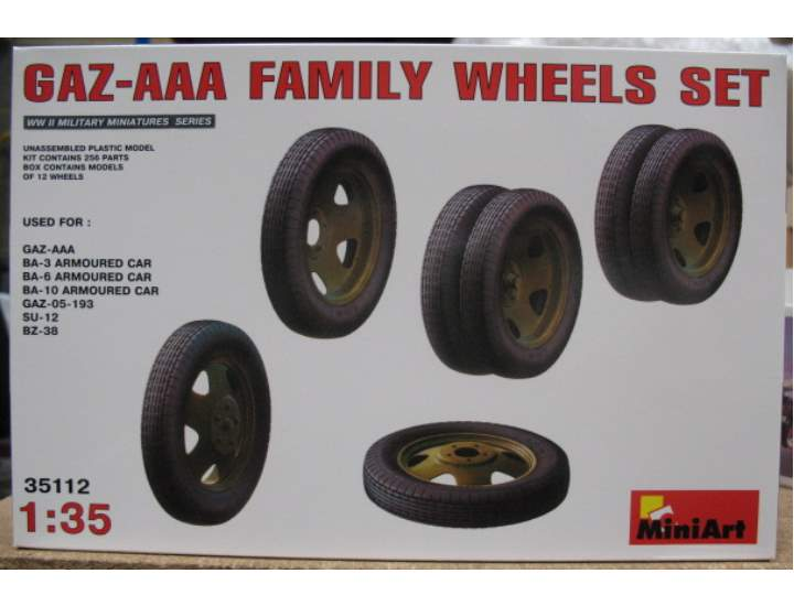 Miniart GAZ-AAA Family Wheels Set Scale 1/35 35112