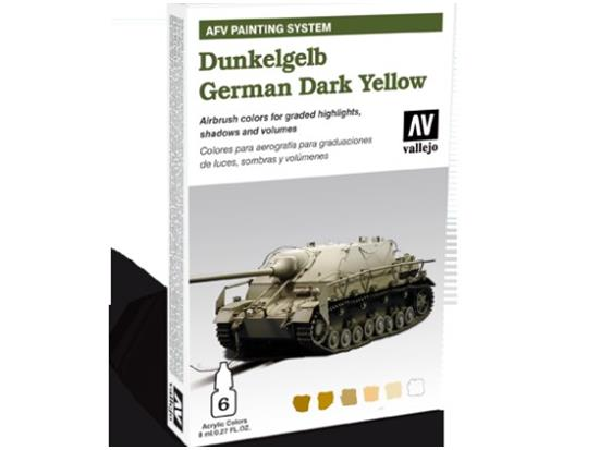 Vallejo - Dunkelgrau German Dark Yellow AFV Painting System Scale 8ml x 6 78401