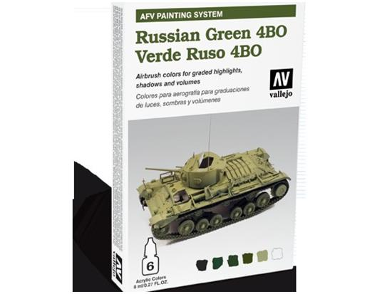 Vallejo - AFV Russian Green 4BO Painting System Scale 8ml x 6 78403