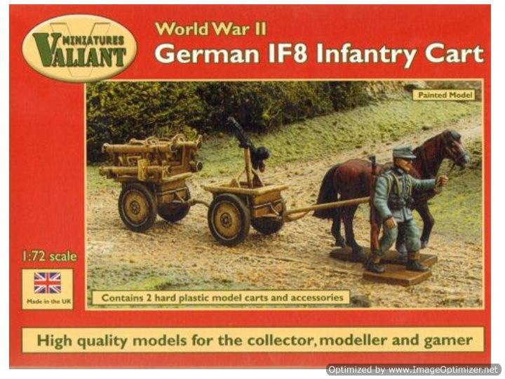 Valiant Miniaturers WWII German IF8 Infantry Cart (Infanteriefahzeug auf8) Scale 1/72 0005