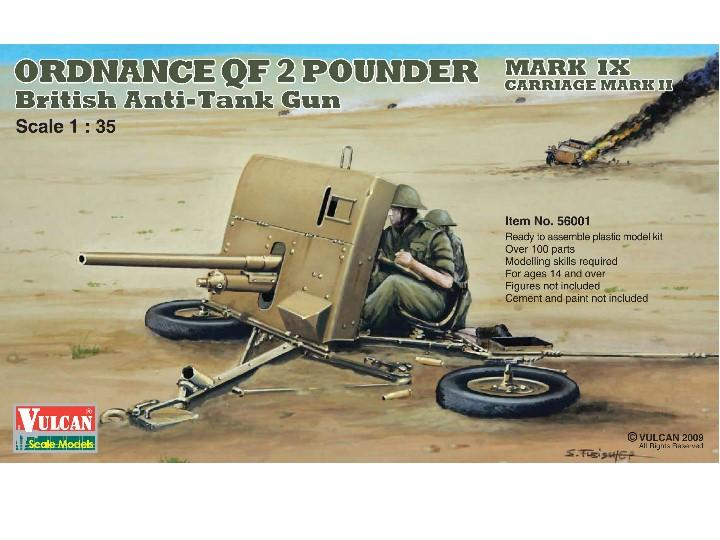 Vulcan Models British Anti-Tank Gun Ordnance QF 2 Pounder Scale 1/35 56001