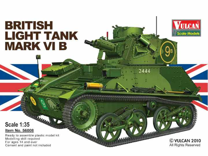 Vulcan Models British Light Tank Mark VI B Scale 1/35 56008