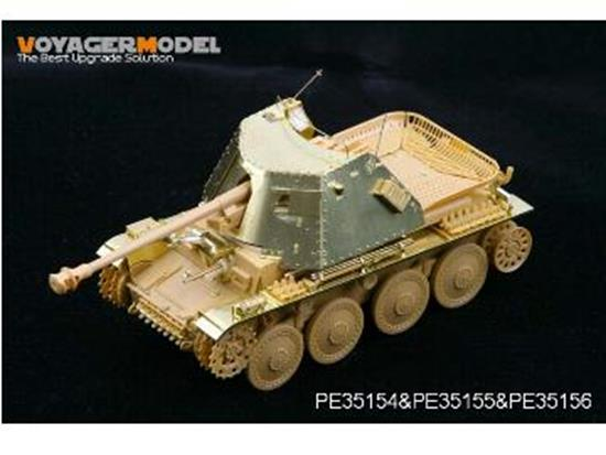 Voyager - Photo Etched set for 1/35 WWII Marder III Ausf H (For TRISTAR35030) Scale 1/35 #PE35154