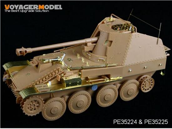 Voyager Photoetch Set For WWII German Marder III M Fenders (For TAMIYA 35255) Scale 1/35 PE35225