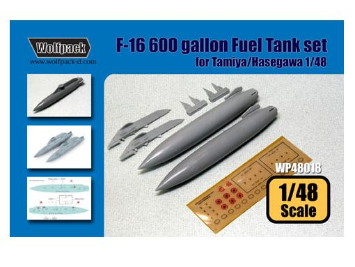 Wolfpack Design 1/48 WDWP48018 F-16 600 Gal. Fuel tank set