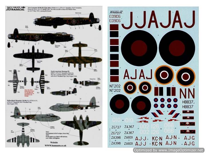 Xtradecal 617 (Dambusters) Squadron 1943-2008 (7) 1/48 48075