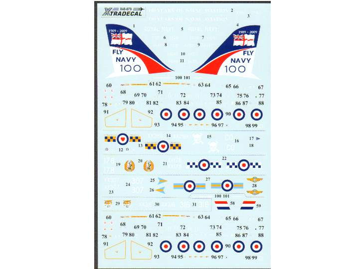 Xtradecal BAE Hawk T.1 2009 100 Years of Naval Aviation 1/48 48079