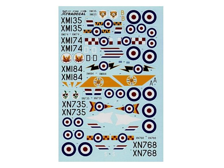 Xtradecal EE Lightning F.1A/F.2 Decals 1/72 72088