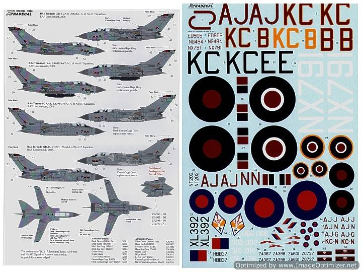 Xtradecal 617 (Dambusters) Squadron 1943-2008 1/72 72093