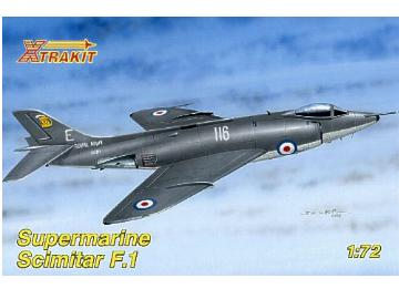 Xtrakit Supermarine Scimitar F.1. Includes resin ejection seat Scale 1/72 72011