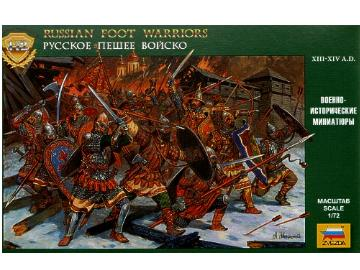 Zvezda Russian Foot Warriors 13-14th Century Scale 1/72 8062
