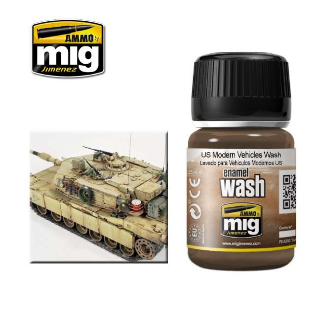 Ammo Mig 35ml 1007 US Modern Vehicles Wash - Enamel