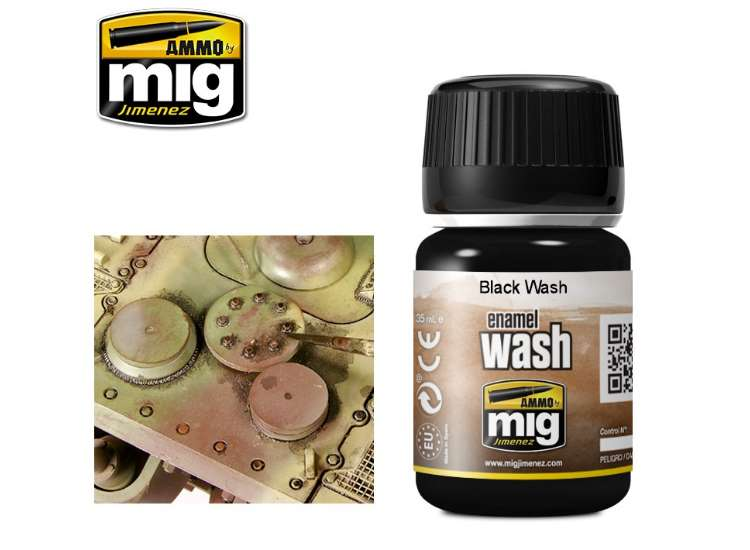 Ammo Mig 35ml 1011 Black Wash - Enamel