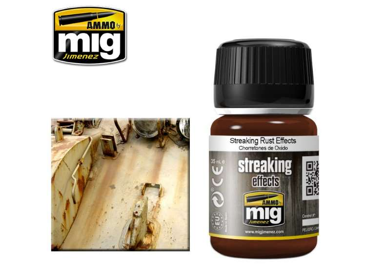 Ammo Mig 35ml 1204 Streaking Rust Effects - Enamel