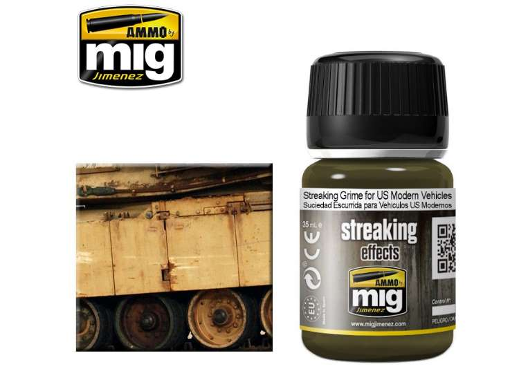 Ammo Mig 35ml 1207 Streaking Grime For US Modern Vehicles - Enamel