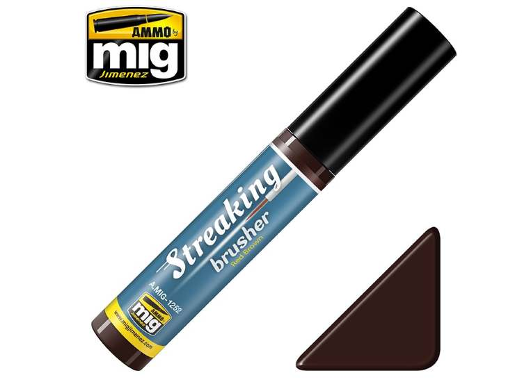 Ammo Mig Streaking Brusher - Red Brown 1252