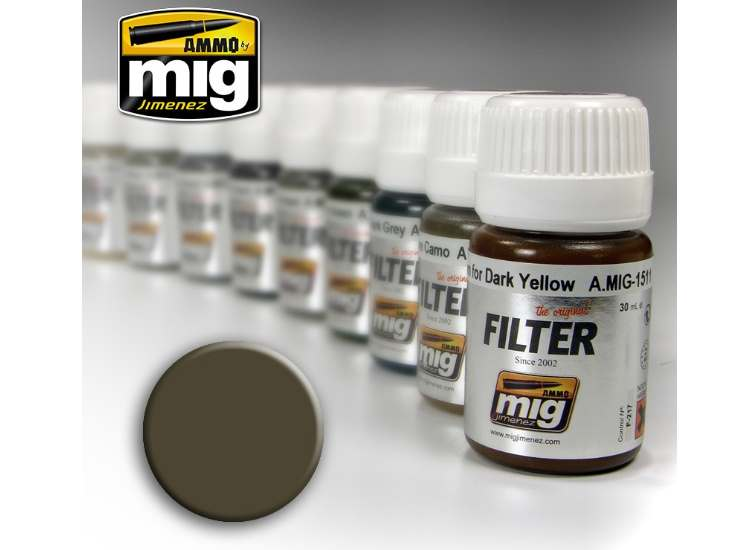 Ammo Mig 30ml 1502 Enamel Filter - Dark Grey For White