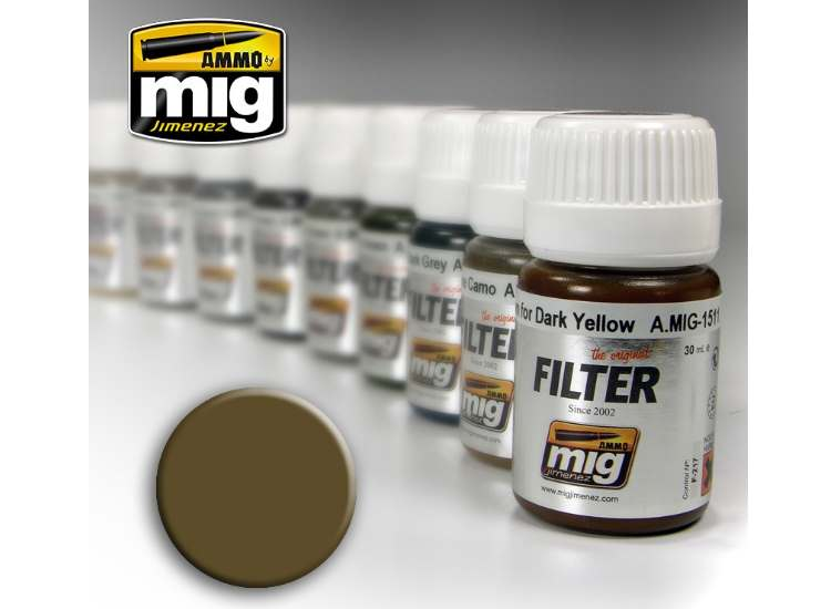 Ammo Mig 30ml 1504 Enamel Filter - Brown For Desert Yellow