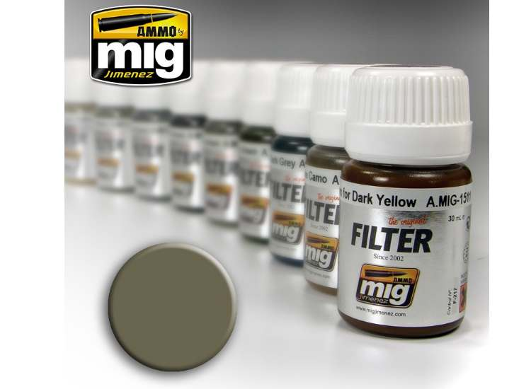Ammo Mig 30ml 1507 Enamel Filter - Tan For Yellow Green