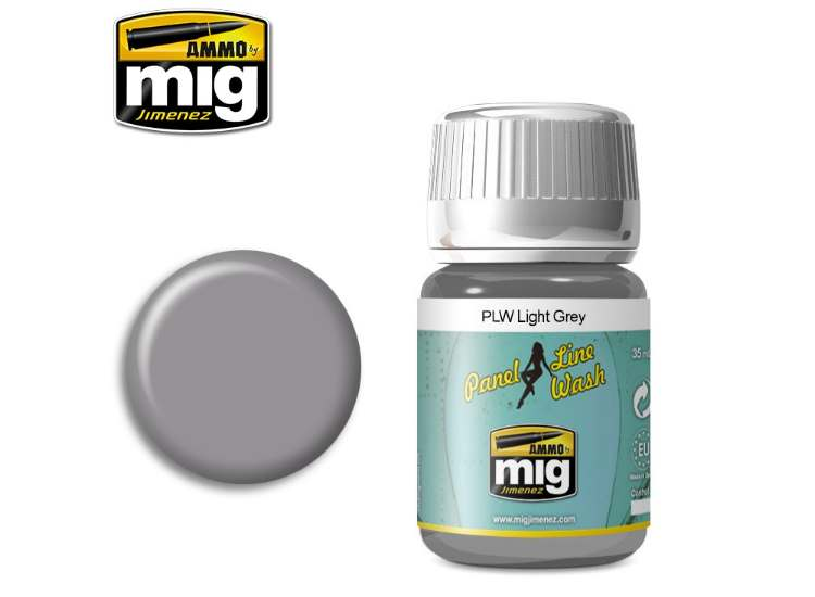 Ammo Mig 35ml 1600 Panel Line Wash - Light Grey - Enamel