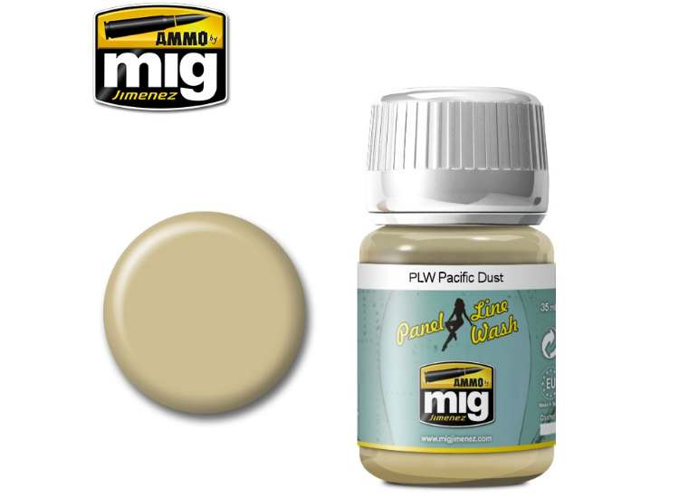 Ammo Mig 35ml 1604 Panel Line Wash - Pacific Dust - Enamel