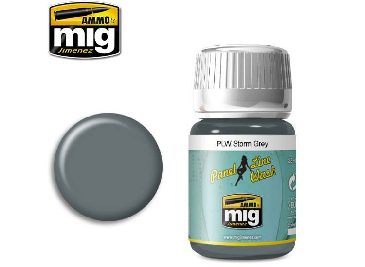 Ammo Mig 35ml 1609 Panel Line Wash - Storm Grey - Enamel