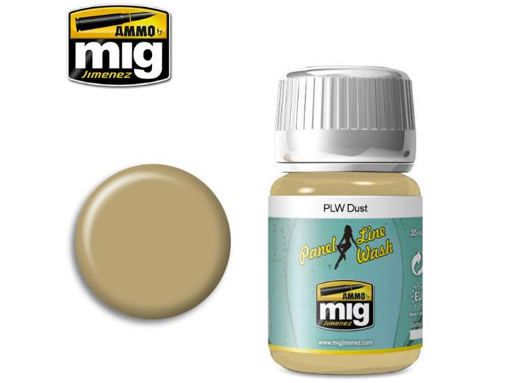 Ammo Mig 35ml 1620 Panel Line Wash - Dust - Enamel