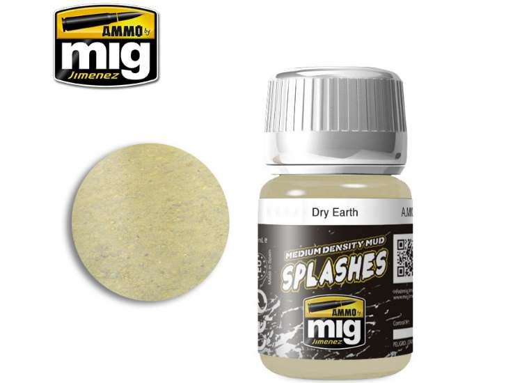 Ammo Mig 35ml 1750 Enamel Mud Effects - Dry  Earth