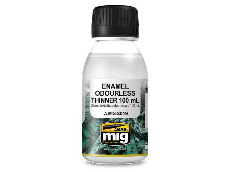 Ammo Mig 100ml 2019 Enamel Odourless Thinner
